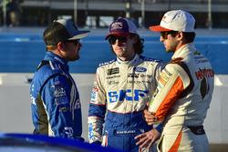 Ricky Stenhouse Jr., Roush Fenway Racing Ford, Ryan Blaney, Wood Brothers Racing Ford, Chase Elliott, Hendrick Motorsports Chevrolet