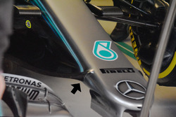 Mercedes AMG F1 W09 front nose detail