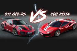 Ferrari Pista vs Porsche 911 GT2 RS