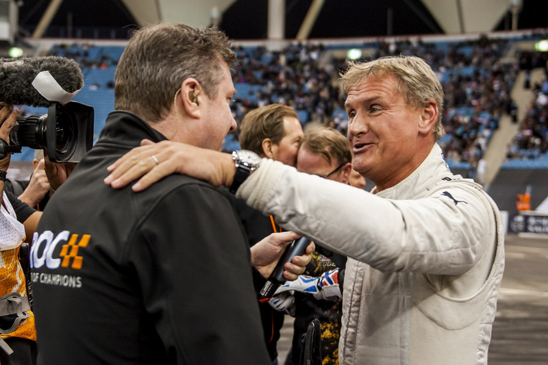 David Coulthard abbraccia David Croft
