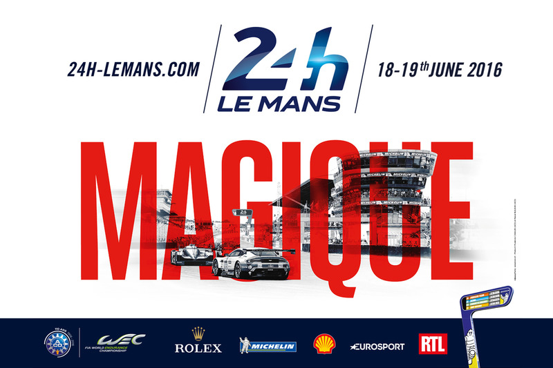 Poster für die 24 Stunden von Le Mans 2016
