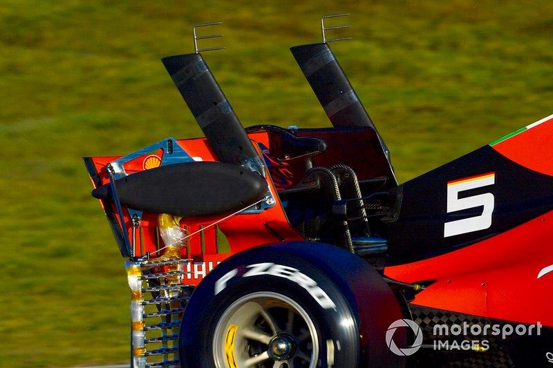 Sebastian Vettel, Ferrari SF90, con dei sensori