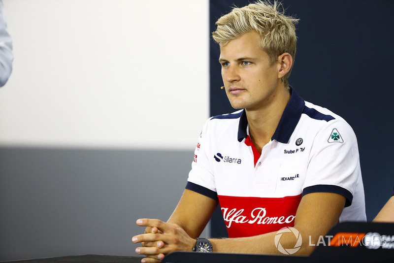 Marcus Ericsson, Sauber, in the Thursday press conference