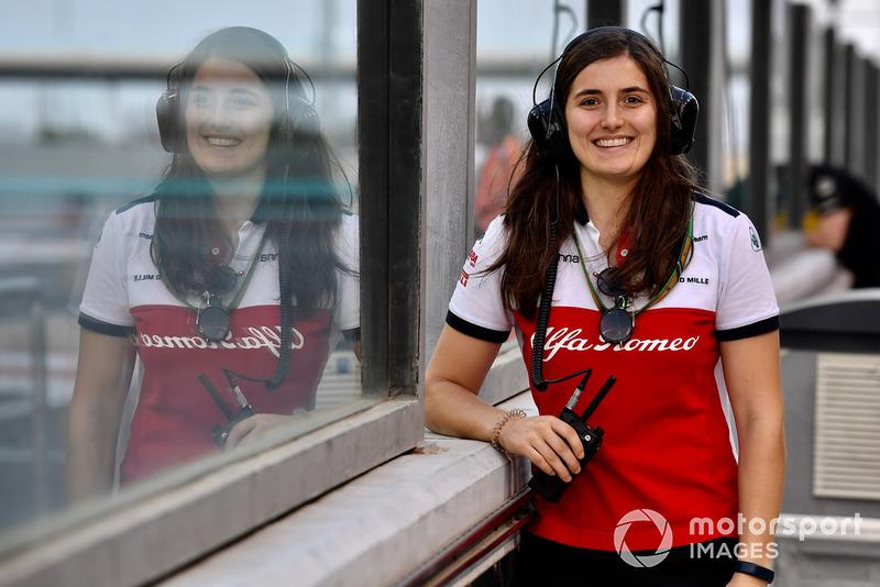 Tatiana Calderon, pilote d'essais Sauber