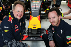 Andy Palmer, Aston-Martin-Chef; Christian Horner, Red-Bull-Racing-Teamchef