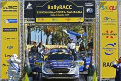 Podium : Ott Tänak, Martin Järveoja, Ford Fiesta WRC, M-Sport