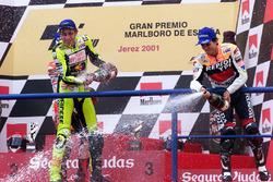 1. Valentino Rossi, Honda; 3. Alex Criville, Honda