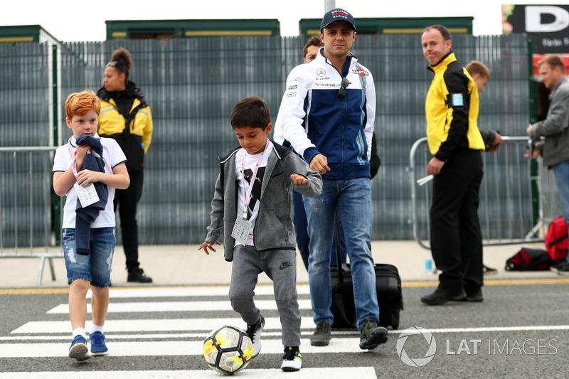 Felipe Massa, Williams junto a su hijo Felipinho Massa