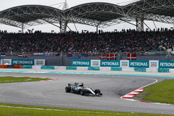 Lewis Hamilton, Mercedes AMG F1 W08, on the formation lap