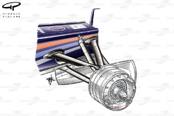 Red Bull RB7 front suspension