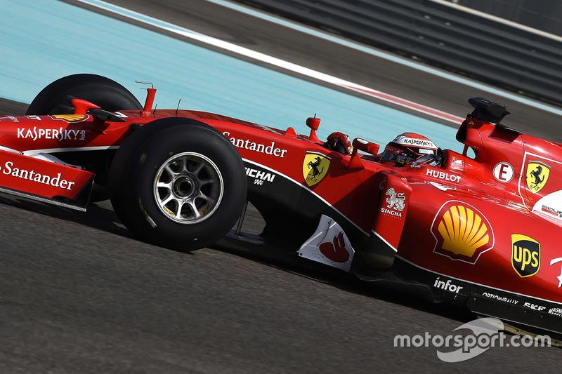 Kimi Raikkonen, Ferrari prueba los nuevos neumáticos Pirelli  2017