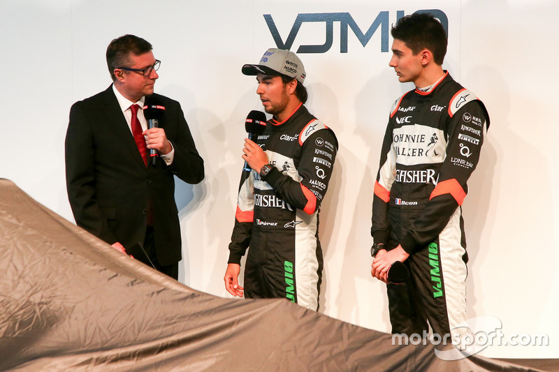 David Croft, Sergio Perez und Estaban Ocon