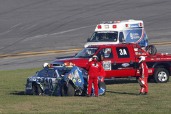 Jimmie Johnson, Hendrick Motorsports Chevrolet after the crash
