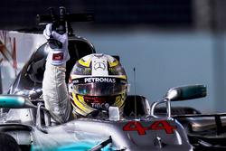 Lewis Hamilton, Mercedes AMG F1 W08, viert zijn overwinning