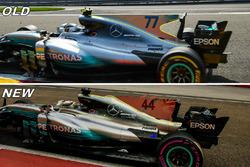 Mercedes AMG F1 W08 vergelijking