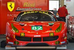 #82 Risi Competizione, Ferrari 488 GTE: Toni Vilander, Giancarlo Fisichella, Pierre Kaffer
