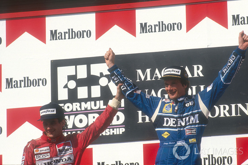 1. Thierry Boutsen, Williams; 2. Ayrtron Senna, McLaren