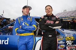 Chase Briscoe, Brad Keselowski Racing Ford and Parker Kligerman, Henderson Motorsports Toyota