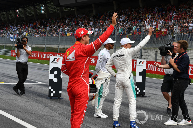 Sebastian Vettel, Ferrari, Lewis Hamilton, Mercedes AMG F1, Valtteri Bottas, Mercedes AMG F1, Davide Valsecchi, Sky Italia