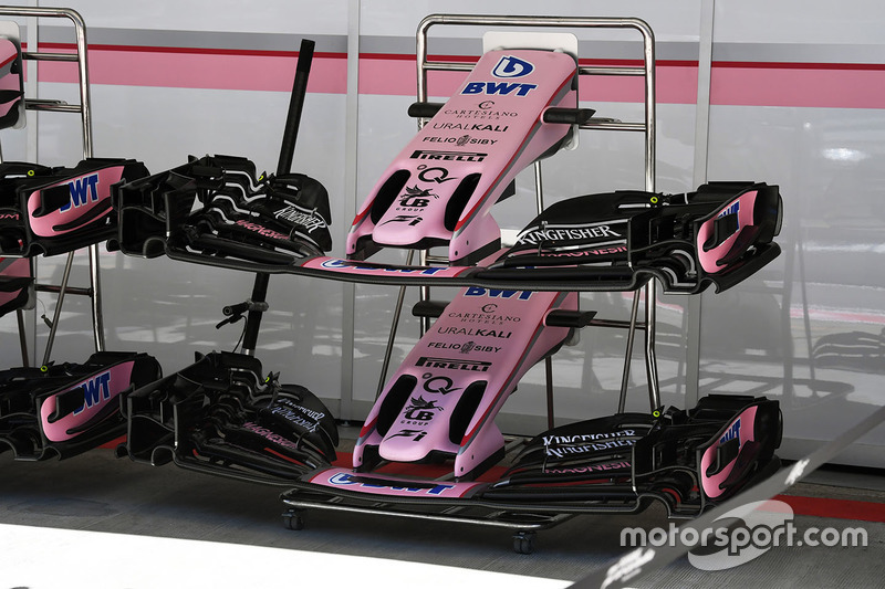 Sahara Force India F1 VJM10 nose and front wings