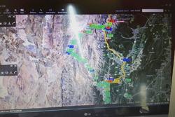 L'immagine satellitare usata dalla direzione gara per seguire i piloti