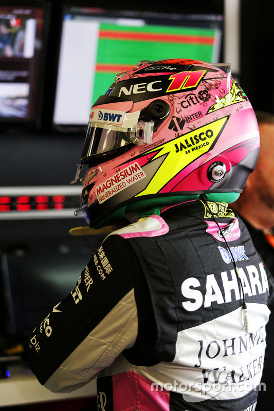 Casco de Sergio Pérez, Sahara Force India