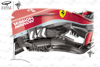 Ferrari SF71H bargeboards, United States GP