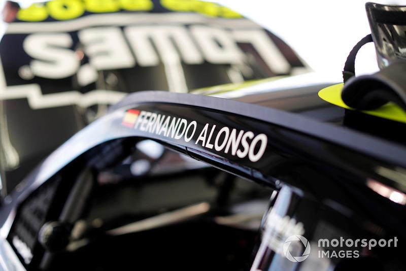 Name of Fernando Alonso on the NASCAR