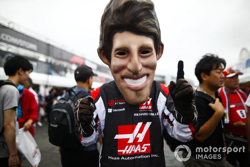 Karikatur Romain Grosjean, Haas F1 Team