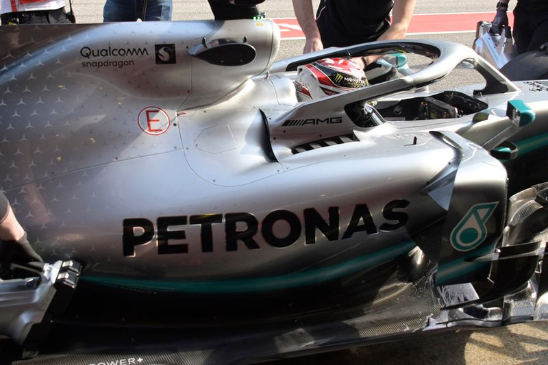 Valtteri Bottas, Mercedes-AMG F1 W10 sidepod