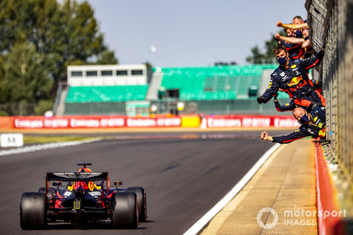 Max Verstappen, Red Bull Racing RB16, takes victory