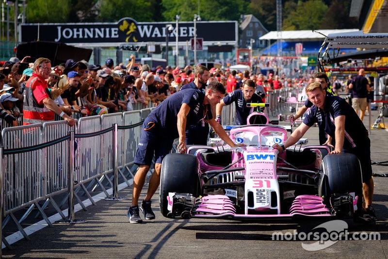 Force India VJM11 de Esteban Ocon