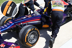 Pirelli tyres detail of the Red Bull Racing RB9