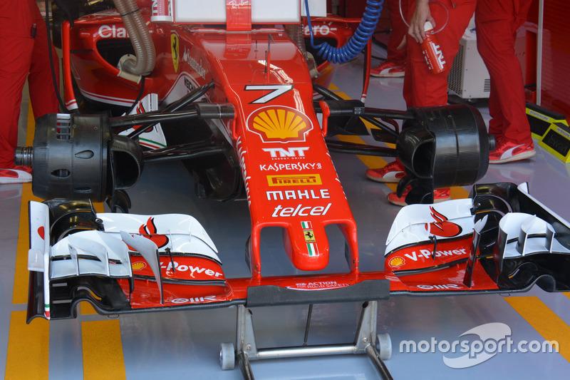 Ferrari SF16-H: Asymmetrische Vorderradbremse