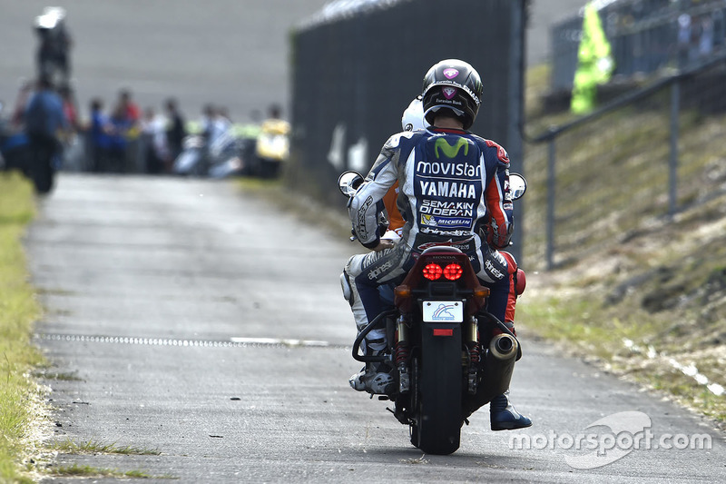 Jorge Lorenzo, Yamaha Factory Racing after his crash