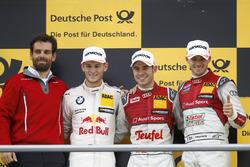 Podium: Race winner Miguel Molina, Audi Sport Team Abt Sportsline, Audi RS 5 DTM; second place Marco Wittmann, BMW Team RMG, BMW M4 DTM; third place Edoardo Mortara, Audi Sport Team Abt Sportsline, Audi RS 5 DTM and Marcus Michelsberger, Race engineer Audi Team Abt Sportline