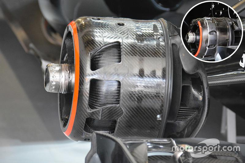 Bremsbelüftung des McLaren MP4-31