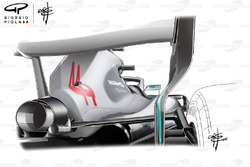 Mercedes AMG F1 W09 con espejos retrovisores nuevos