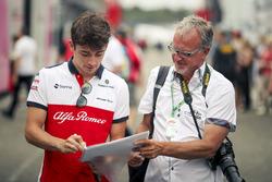 Charles Leclerc, Sauber signs an autograph