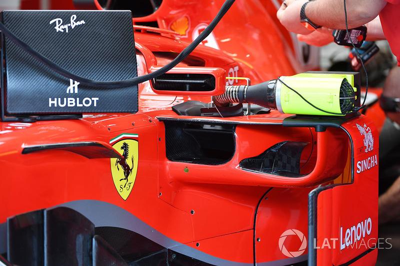 Pontón del Ferrari SF71H