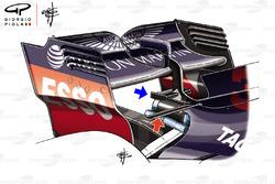 Red Bull RB14, hátsó szárny, kakasülő