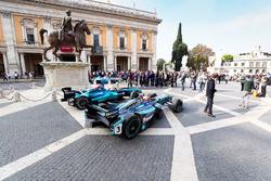 Le Formula E in mostra a Roma