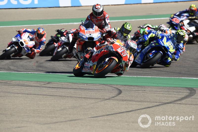 Аварія Хорхе Лоренсо, Ducati Team, на першому колі Гран Прі Арагону