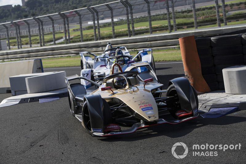 Jean-Eric Vergne, DS TECHEETAH, DS E-Tense FE19, Alexander Sims BMW I Andretti Motorsports, BMW iFE.18 et Antonio Felix da Costa, BMW I Andretti Motorsports, BMW iFE.18