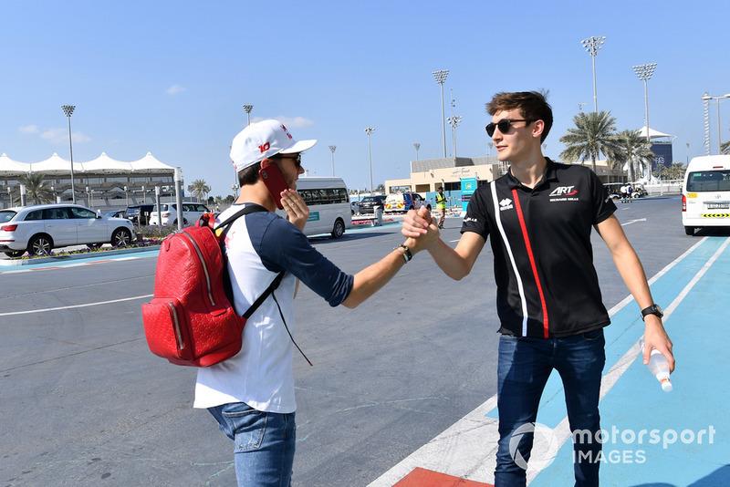 Pierre Gasly, Scuderia Toro Rosso, George Russell, ART Grand Prix