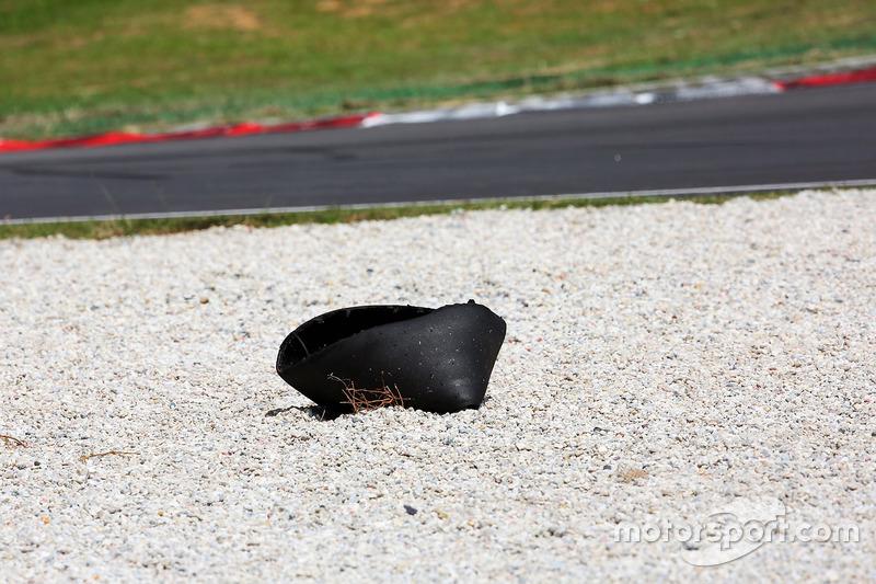 The Pirelli tyre carcass of Esteban Gutierrez, Haas F1 Team at the start of the race
