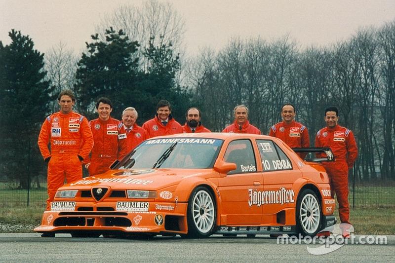 Презентация команды Alfa Corse JAS с Михаэлем Бартельсом, Габриэле Тарквини и Джейсоном Уоттом