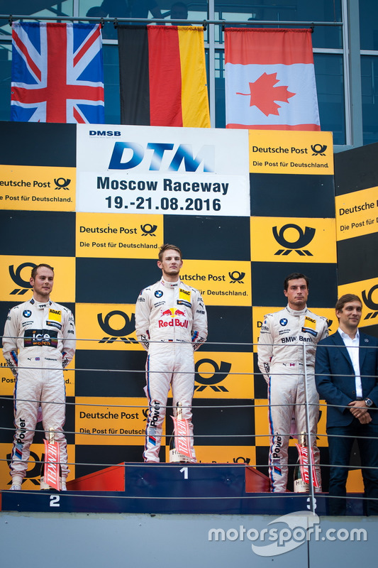 Podium: Sieger Marco Wittmann, BMW Team RMG, BMW M4 DTM; 2. Tom Blomqvist, BMW Team RBM, BMW M4 DTM; 3. Bruno Spengler, BMW Team MTEK, BMW M4 DTM