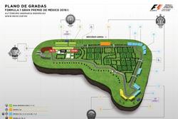 Mapa de pista y tribunas