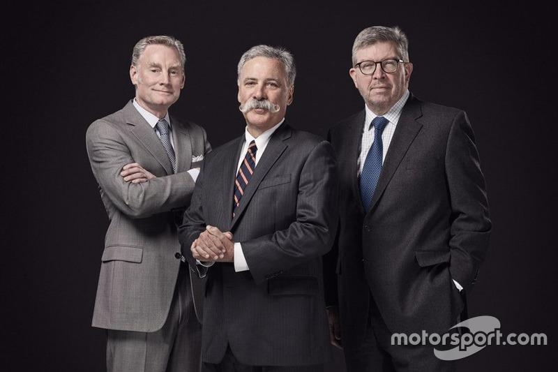 Первая фотография нового руководства Ф1: Шона Братчеса, Чейза Кэри и Росса Брауна